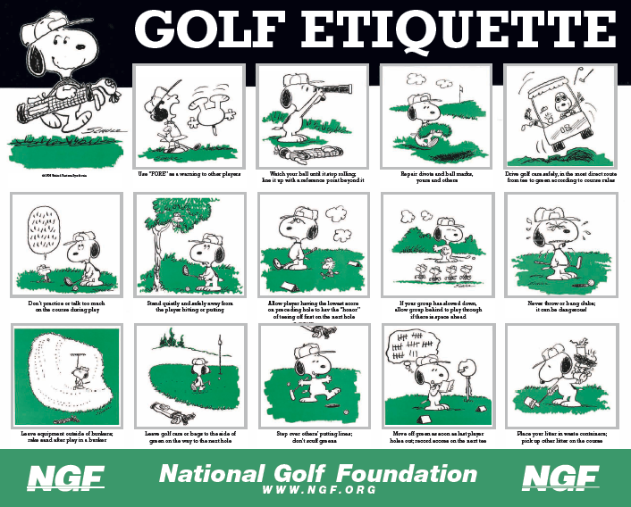 an analysis of the proper golf etiquette